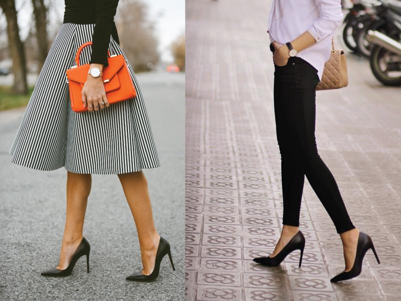 Για παράδειγμα είναι προτιμότερο να συνδυάσεις ένα φόρεμα με γόβες παρά με flat  παπούτσια 898caee44c5