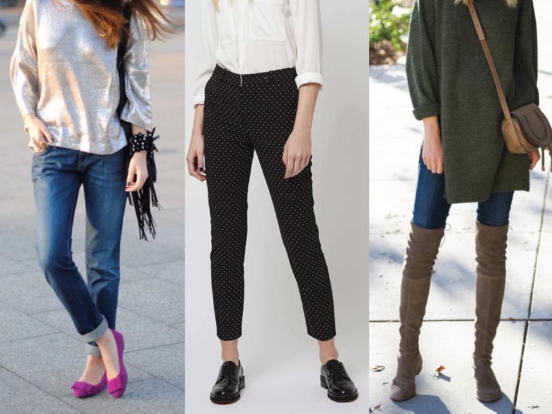 Ας ξεκινήσουμε από τα πολύ κλασικά και αγαπημένα κομμάτια που σίγουρα έχεις  στη γκαρνταρόμπα σου. Προφανώς μιλάμε για jeans και παντελόνια. Τα flat ... 1595c8a6ca2