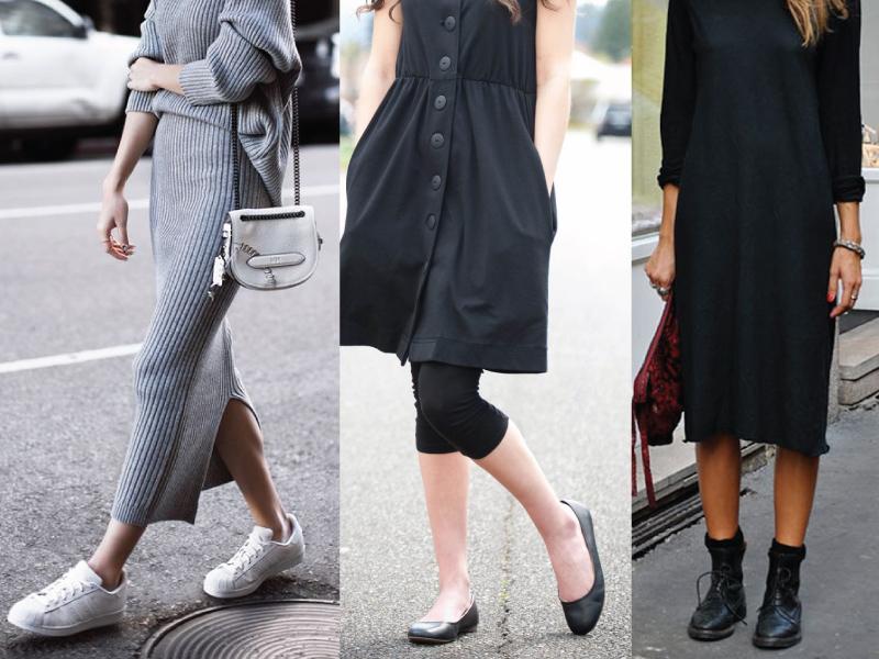 Ένα από τα πιο γνωστά outfit που έχουμε δει είναι ο συνδυασμός φορέματος με  sneakers. Το γοητευτικό στο συγκριμένο look είναι η στιλιστική αντίθεση που  ... 662ef25df93