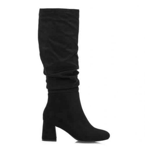 Mariamare suede μπότες με τακούνι - Μαύρο