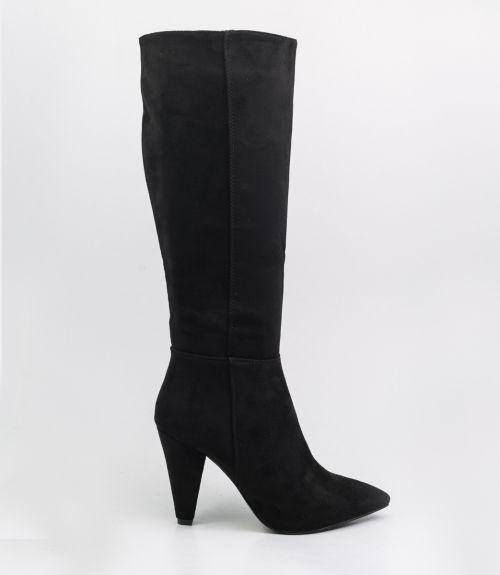 Μπότες suede - Μαύρο