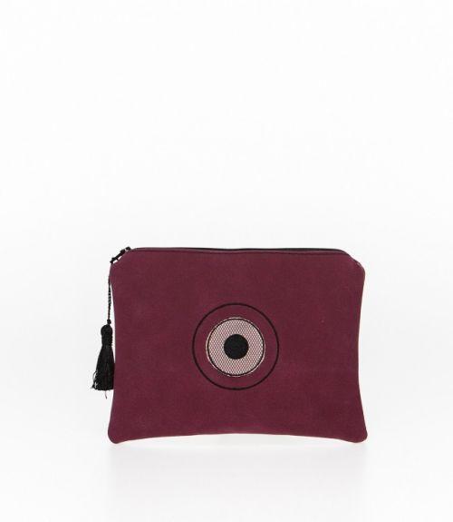 Τσάντα φάκελος - Μπορντό
