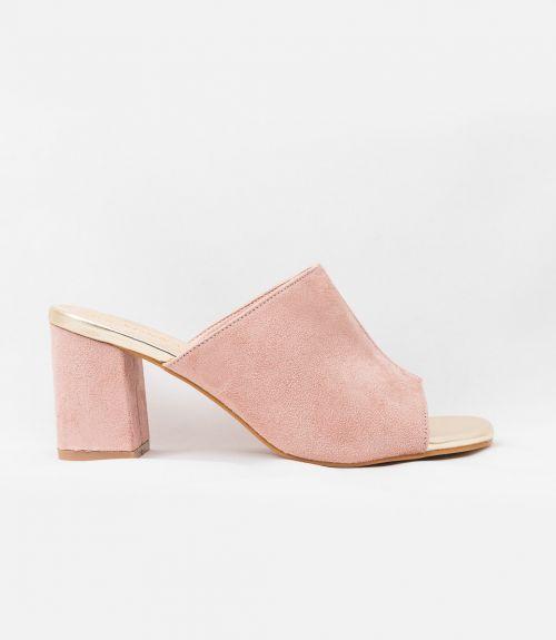 SUEDE MULES  - Ροζ