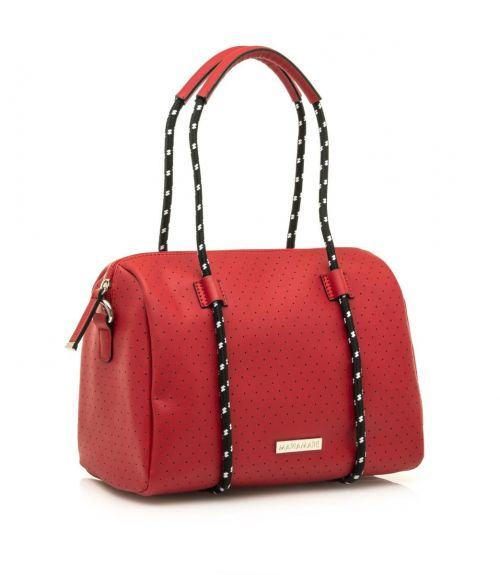 Mariamare τσάντα βαρελάκι Maura - Κόκκινο
