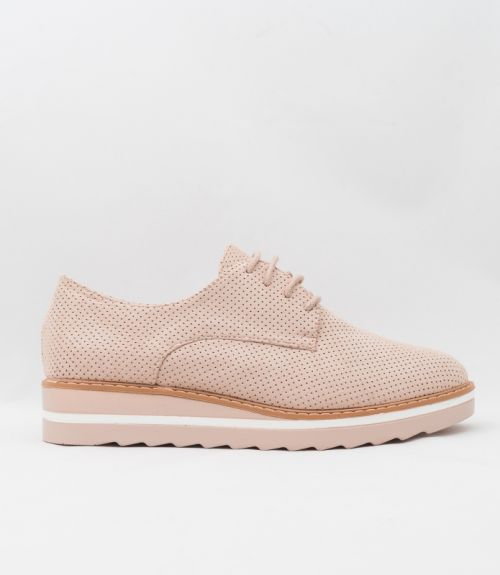 SUEDE OXFORD - Μπέζ
