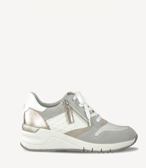 Tamaris sneakers με υπερυψωμένη σόλα  - Λευκό