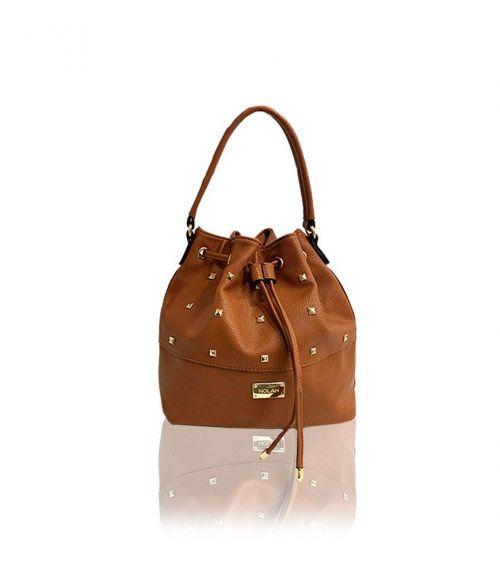 Τσάντα πουγκί με τρουκ Nelly - Ταμπά