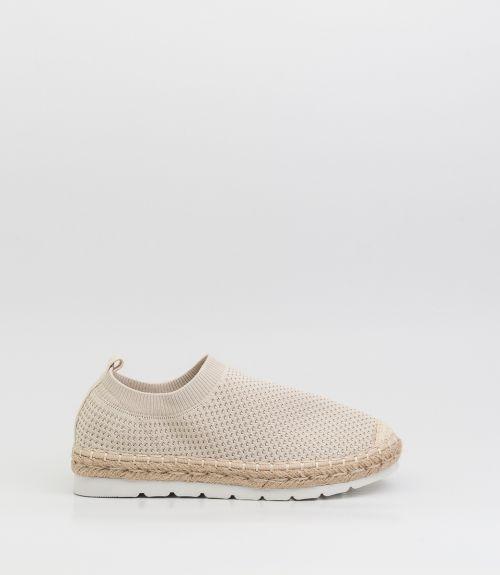 Slip-on loafers με σχοινί  - Μπέζ