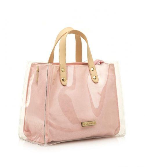 Mariamare τσάντα με διαφάνεια Grisel - Nude