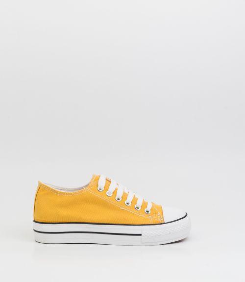 Πάνινα sneakers - Κίτρινο