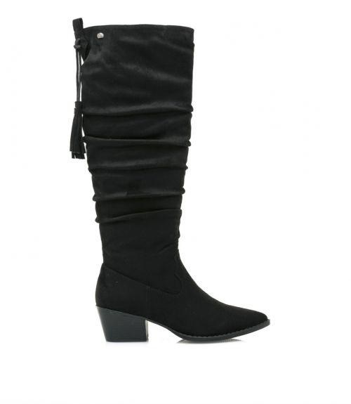 Μυτερές μπότες western - Μαύρο