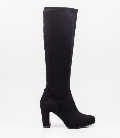 Tamaris suede μπότες με τακούνι  - Μαύρο