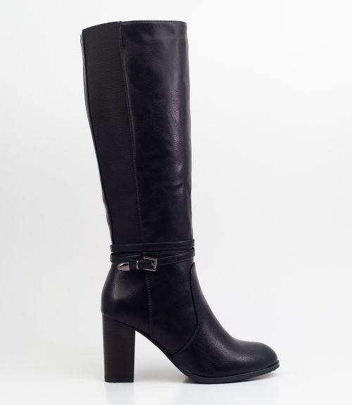 Μπότες με τακούνι  - Μαύρο