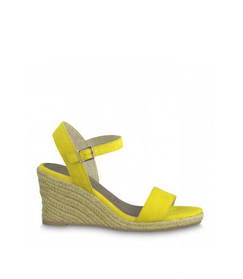 Tamaris πλατφόρμες με σχοινί - Κίτρινο