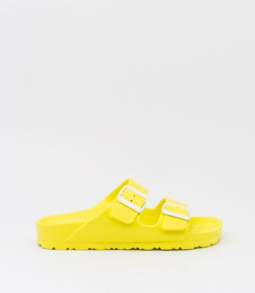 Σαγιονάρες slides με κούμπωμα Vienty - Κίτρινο