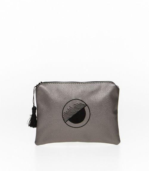 Τσάντα φάκελος - Ανθρακί