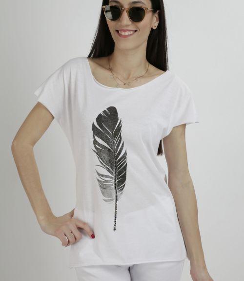 T-shirt ΜΕ ΣΤΑΜΠΑ ΦΤΕΡΟ