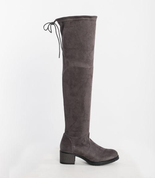 Μπότες over knee - Γκρι