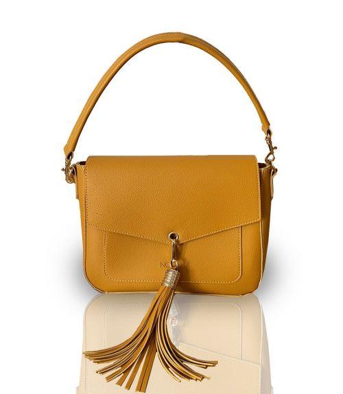 Τσάντα ώμου Celeste  - Κίτρινο