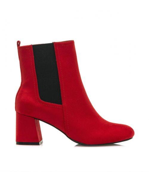 Mariamare μποτάκια με τακούνι  - Κόκκινο