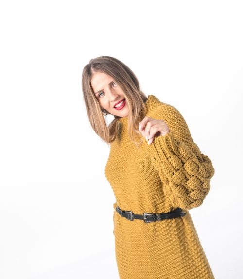 Μακρύ πλεκτό - Κίτρινο