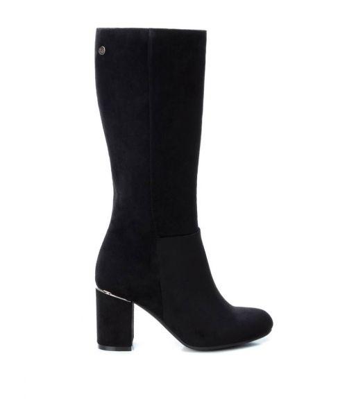 XTI suede μπότες με τακούνι  - Μαύρο