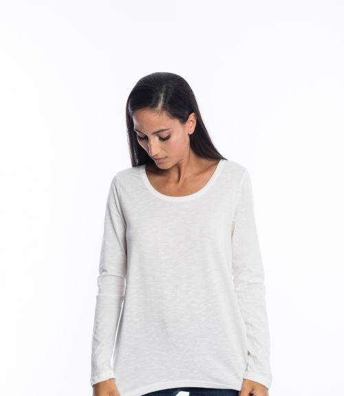 Μπλουζάκι μακρυμάνικο - Λευκό