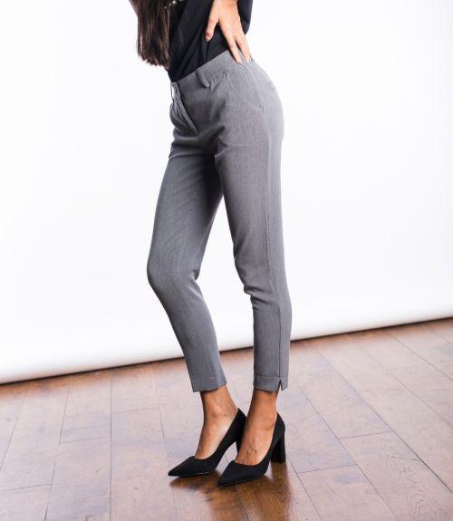 Υφασμάτινο παντελόνι - Γκρι σκούρο