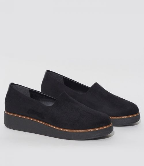 SLIP- ON LOAFERS - Μαύρο