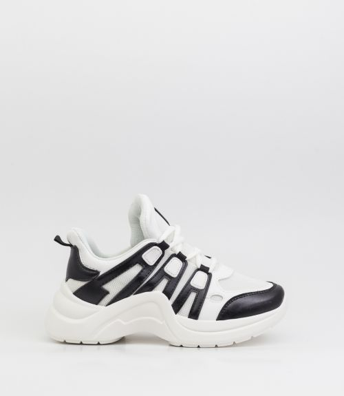 Sneakers με συνδυασμό χρωμάτων - Μαύρο