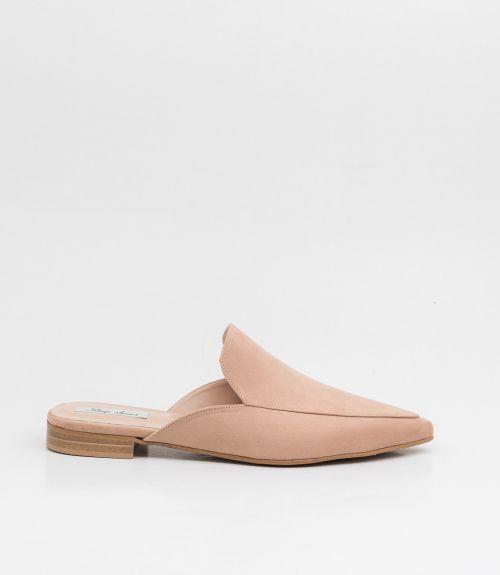 Flat suede mules - Μπέζ