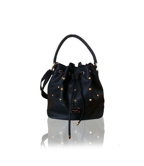 Τσάντα πουγκί με τρουκ Nelly - Μαύρο