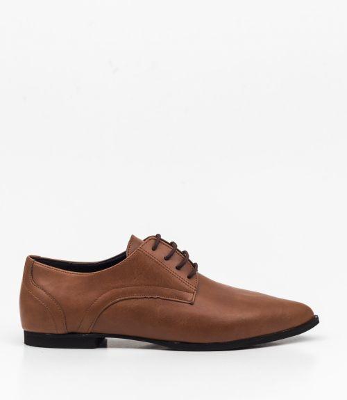 Φλατ μυτερά δετά παπούτσια - Ταμπά