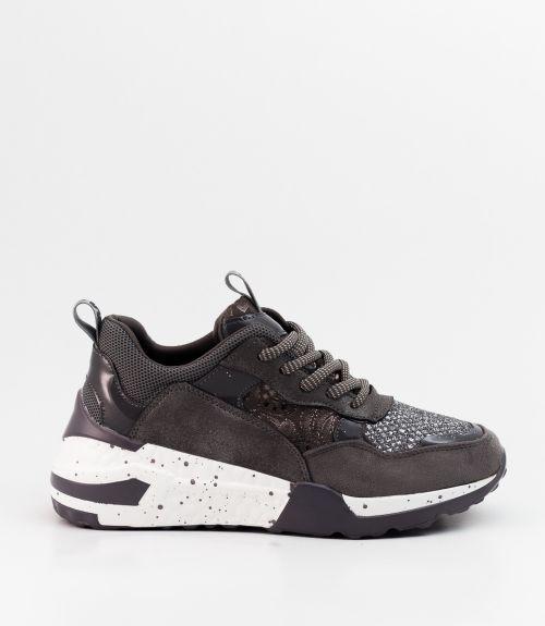 Sneakers με glitter - Γκρι σκούρο