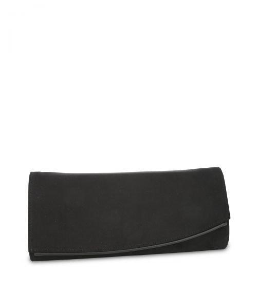 SUEDE ΦΑΚΕΛΟΣ ( CLUTCH BAG ) - Μαύρο