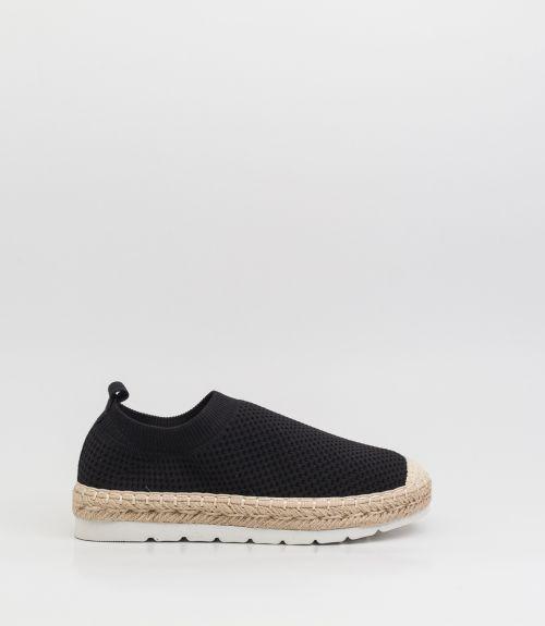Slip-on loafers με σχοινί  - Μαύρο