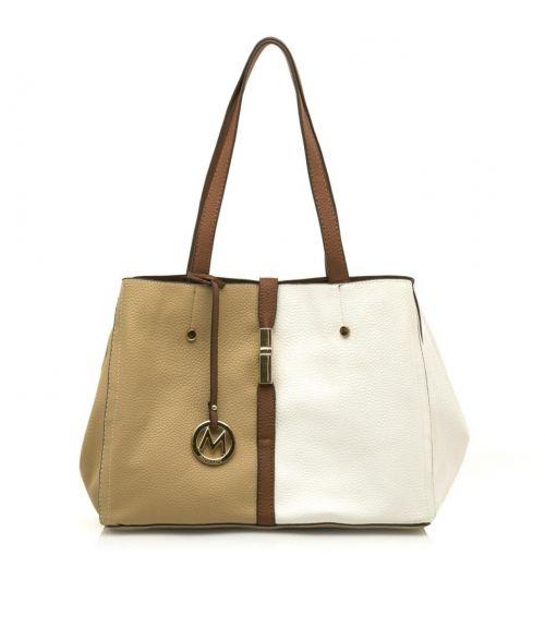 Mariamare τσάντα ώμου Gala - Μπέζ