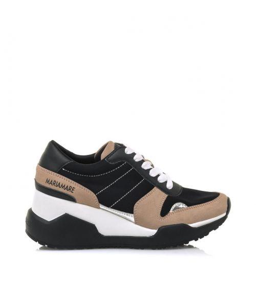 Sneakers από δέρμα καστόρι  - Μαύρο