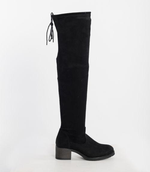 Μπότες over knee - Μαύρο