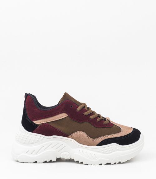 Suede sneakers με συνδυασμό χρωμάτων  - Multi