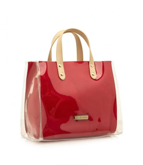 Mariamare τσάντα με διαφάνεια Grisel - Κόκκινο