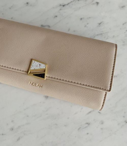 Cassie πορτοφόλι με σχέδιο  - Μπέζ