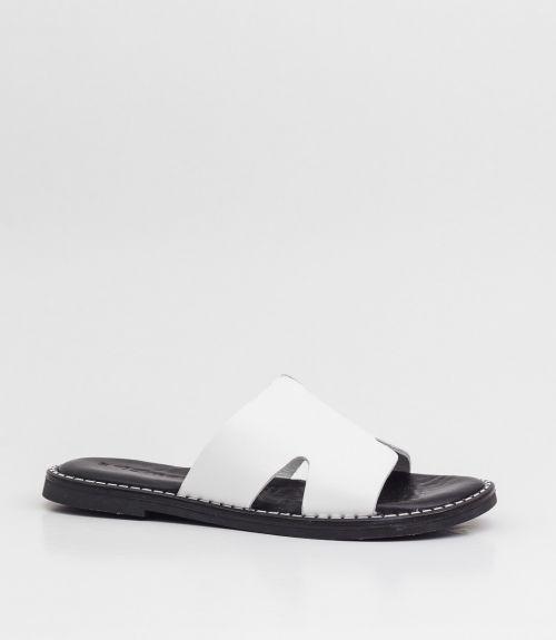 Δερμάτινες παντόφλες tamaris - Λευκό