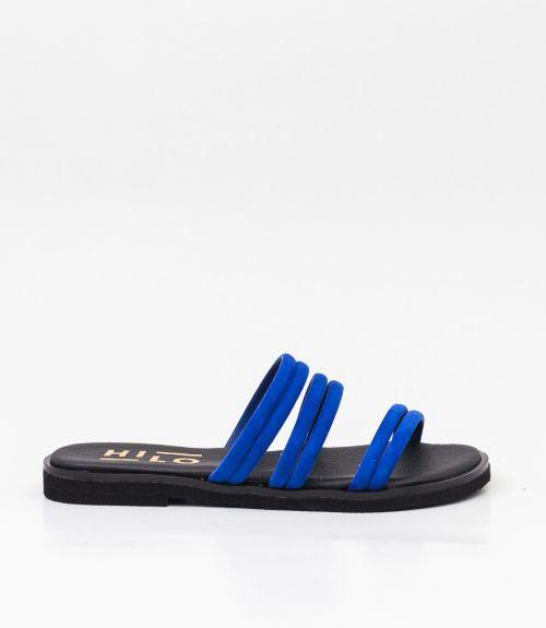 Σανδάλια με suede λουράκια - Μπλε