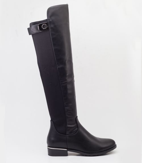 Μπότες με λάστιχο - Μαύρο