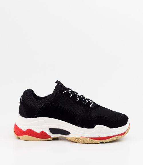 Πολύχρωμα sneakers - Μαύρο