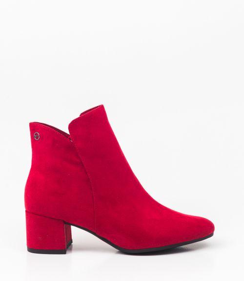 Tamaris μποτάκια με χαμηλό τακούνι - Κόκκινο