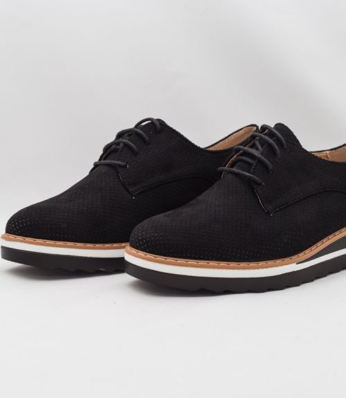 SUEDE OXFORD - Μαύρο