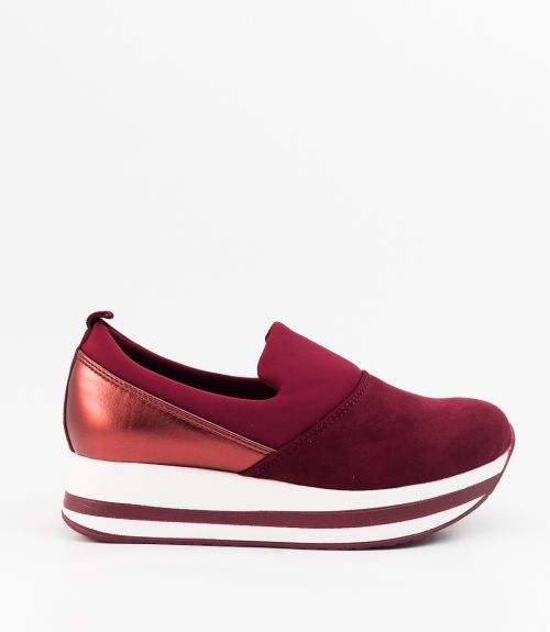 Slip-on sneakers - Μπορντό
