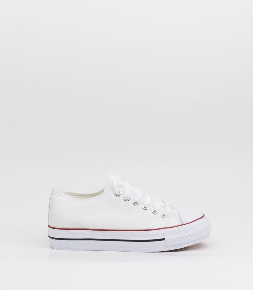 Πάνινα sneakers - Λευκό